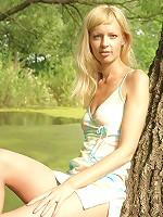 Striking Blonde Angel