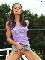 Little Caprice Exposes Clit Outside