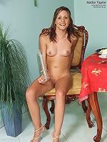 Nadia Taylor Posing with ALS Rocket