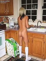 Kacey Jordan Gets the Back Deck Wet