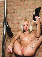 Faye Runaway Works the Stripper Pole