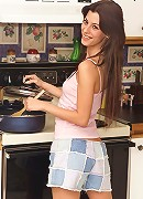 Amy Lee Spreads Wide in the Kitchen