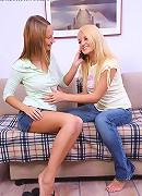 Alla and Jodi - Delightful teens strip and dildo
