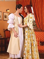 Faith and Waleria - Victorian vixens strip and have sex