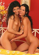Oliva and Shalina - HighHeeled Sluts - High heeled sluts fuck with dildo