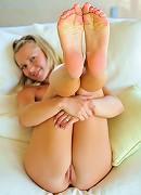 Lena shows off her tasty body