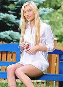 Nubiles.net Diana Fox - Playful teen Diana Fox strips naked in her backyard and masturbates