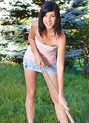 Nubiles.net Barbra - Nymph Nubile Barbra loves to fuck her pussy with a dildo on a sunny day