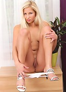 Nubiles.net Candy Love - Hot blonde Candy Love bare-naked on the floor and tickling her tight snatch