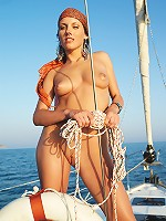 Katrina plays with her undies