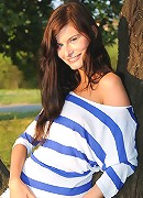 Nubiles.net Megane - Outdoor Nubile Megane rubs her teen pussy against the tree trunk