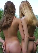 Zemani.com Dasha, Anyutka - Two magic angels pose nude on the bank of silent lake.